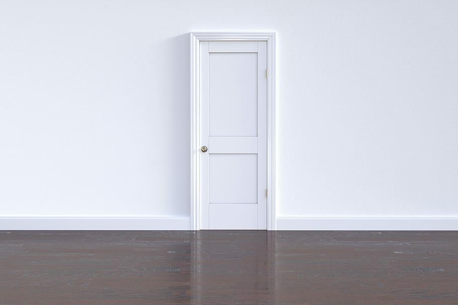 Contemporary white internal door.